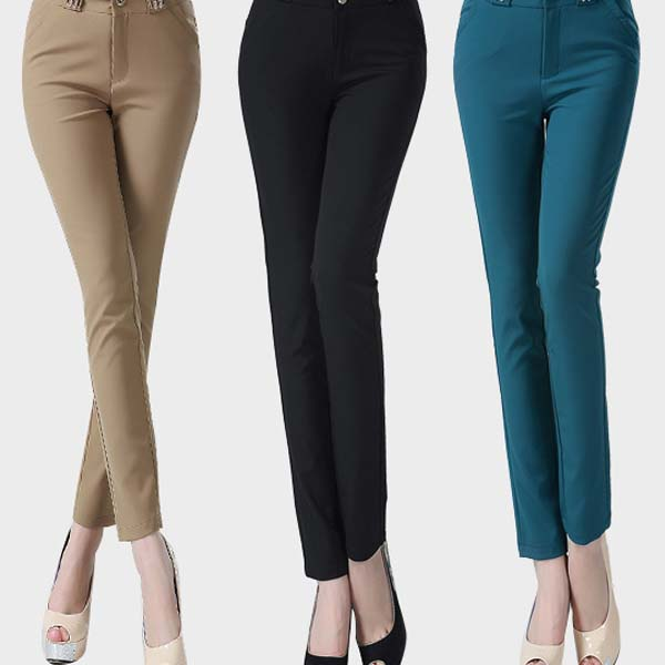 Buy Skirts and Women's Pants Online. With an increasing number of women entering the work force, it should come as no surprise that the requirements for women's office wear garments are increasing. Also, there is a stark transition from sarees and salwar kameezes to western wear in the office wear space. Yet, it's almost impossible to find formal/ business wear clothes for ladies that.