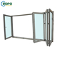 ROPO Australia standard Balcony Accordion Temper Glass UPVC PVC Frame Folding Door