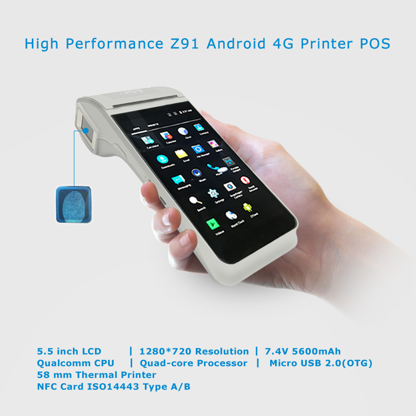 Cost-effective Android POS Machines Mobile All In One Touch POS System with Printer ,NFC for Retail Restaurant Bus