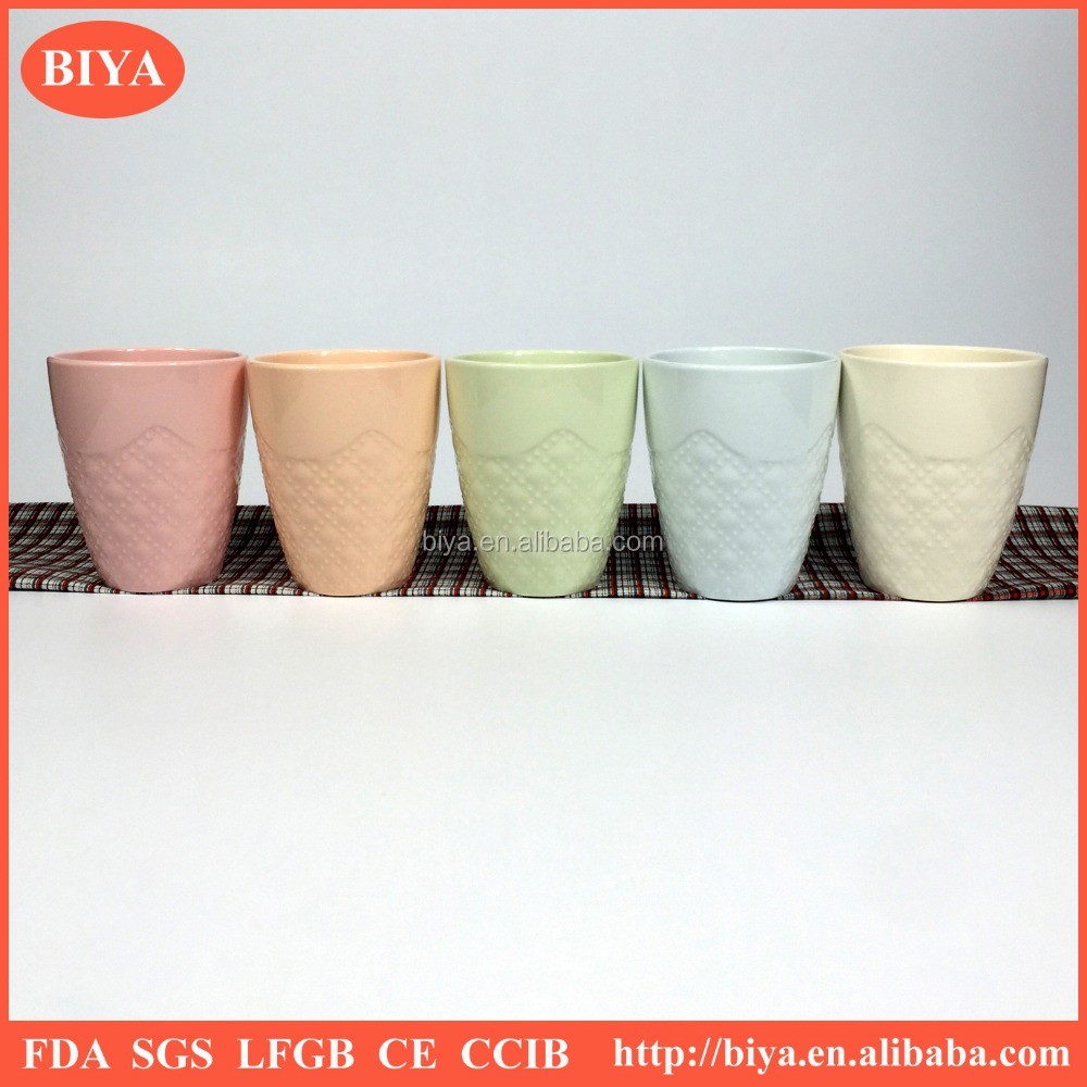 Color mud solid glaze customized ceramic mug porcelain tea cup durable porcelain coffee cup 200ml