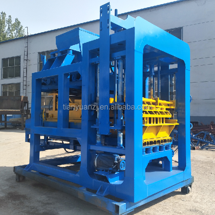 QTY6-15A Small Home Production Machinery Hydraulic Brick Making Machine, Brick Machine for Sale
