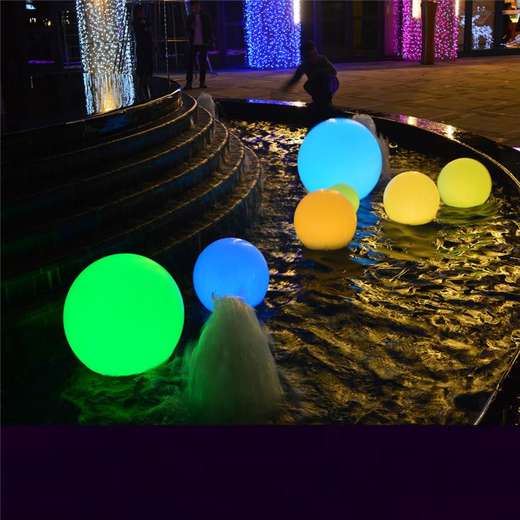 LED Bal Outdoor Tuin Zwembad Decoratie Verlichting Kleur Opladen Gloeiende Bol