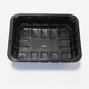 disposable black PP food plastic containers blister packaging meat tray