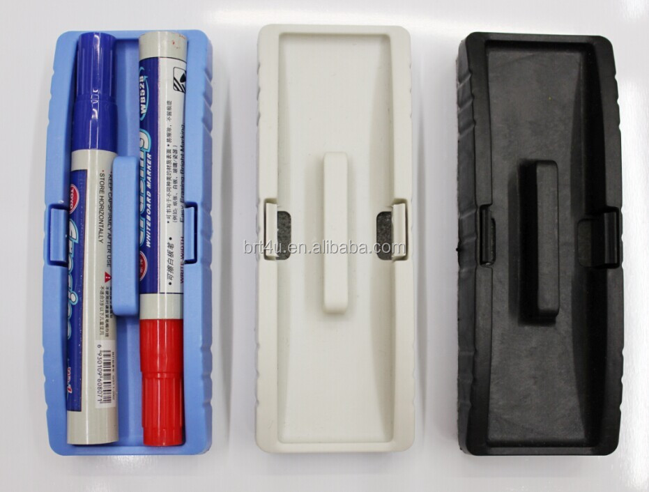 Multi function high quality white board eraser with marker pen for office