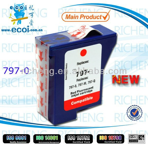 Blue/Red Postage ink Cartridge 797 for K700 DM50 DM55