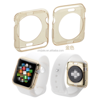 For Apple Watch Series 1&2&3 Clear Transparent Soft TPU 38/42MM Shell Protective Case Cover