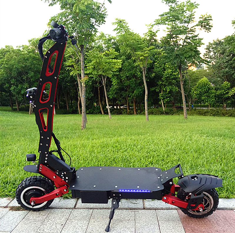 60V 3200W off road (SUV) dual motor electric scooter 2018 price china for big man, Black+red