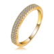3*22mm Double Row Czech Crystal Gold Ring Jewelry Wholesale Indonesia Ring Fashion CRI0077-C