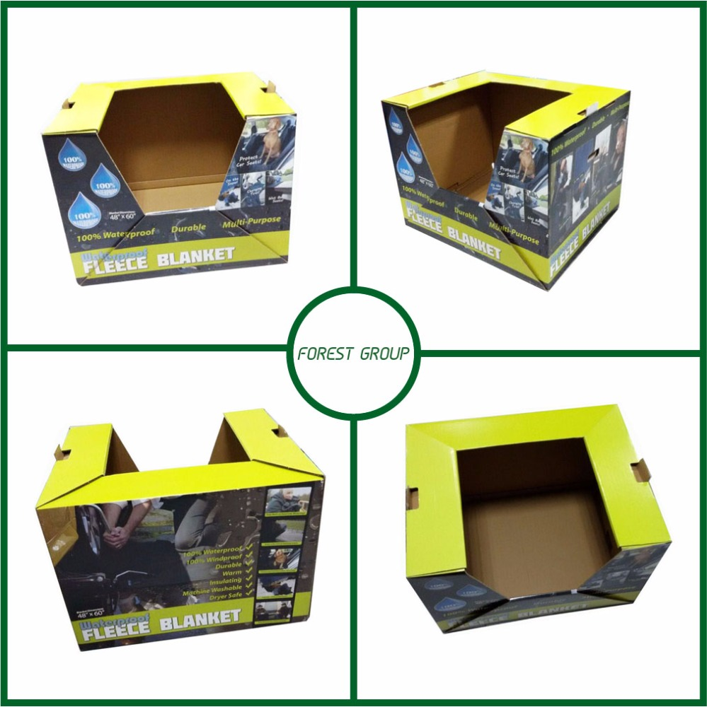 Custom Made Printed Corrugated PDQ Display Carton Paper Box