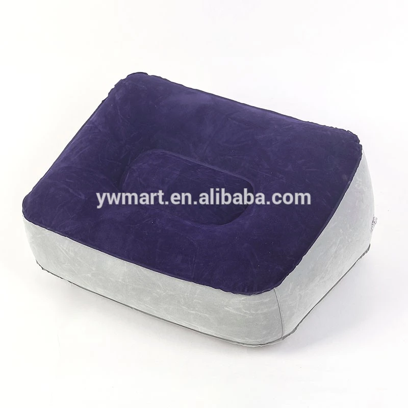 Customize PVC flocking wedge inflatable foot pillow