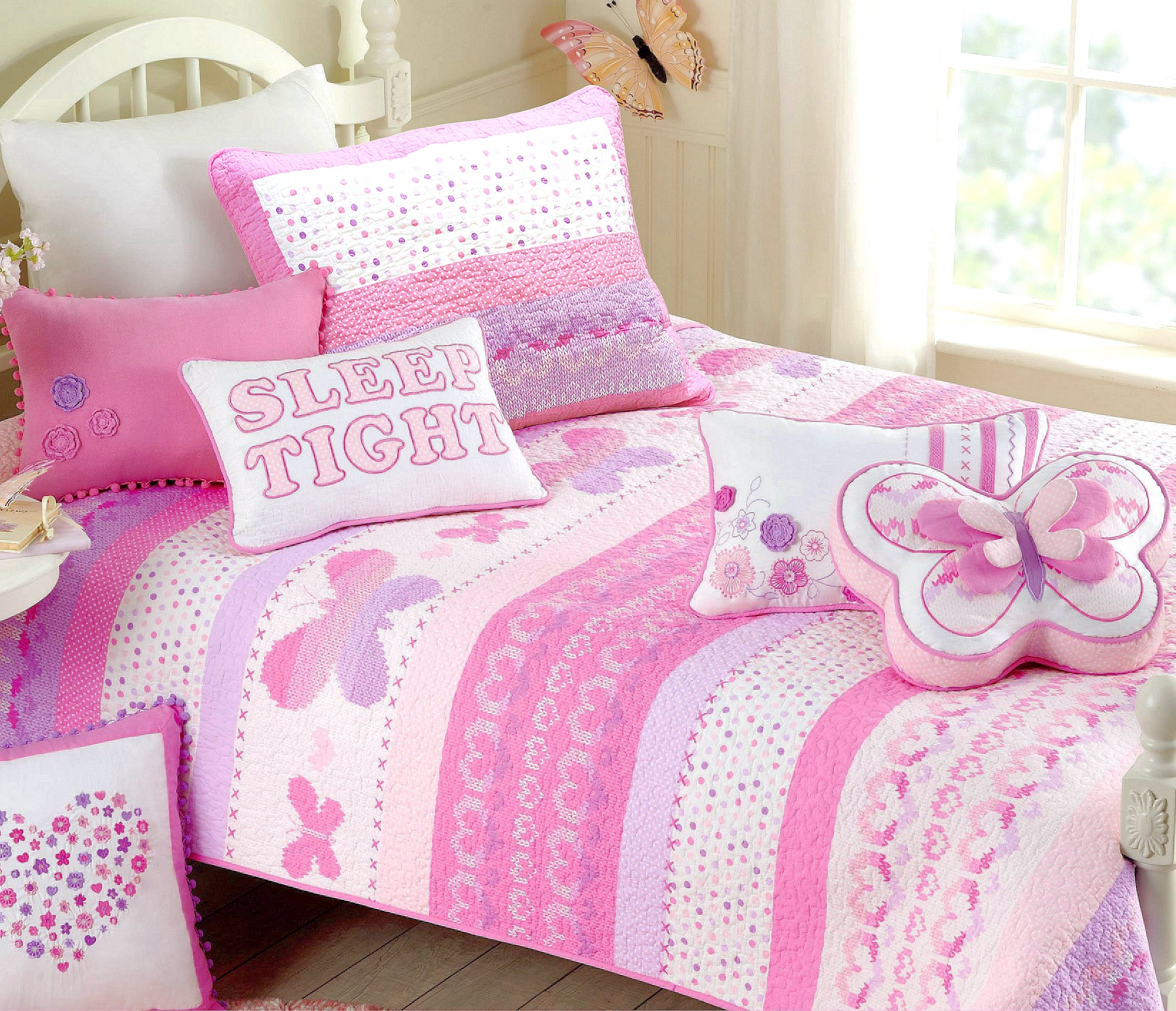 pink-and-black-girls-bedspreads