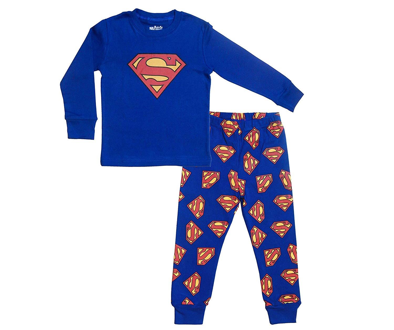 Get Quotations · TinaLuLing Superman 2-Piece Pajamas 0e2abd4b5