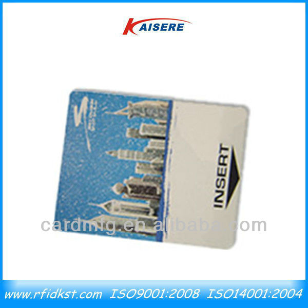 ISO 15693 rfid rewritable cards with 1/3 TRW film