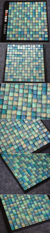 Hsj017 Mosaic Glass Tile/swimming Pool Glass Mosaic Tile - Buy Glass ...