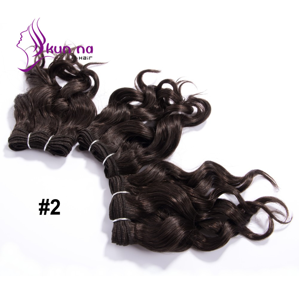 "Dark Brown peruvian hair bundles 8""x3pcs 105g curly remy hair extensions #2 virgin human hair weaves for wig making"