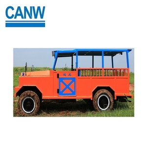 Underground Rock Gold Mining Tools Bucket Transport Mine Vehicle With 7-10 Seat