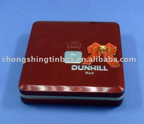 Custom design metal tin cigarette box, cigar case