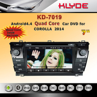 pure android 4.4 quad core car radio dvd player with gps navigation mirror link review camera car dvr for corolla 2014