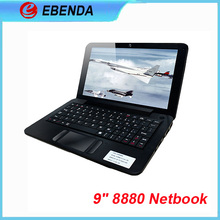 9 inch Laptop Netbook cheap price VIA 8880 Dual-Core ARM 1.5GHZ