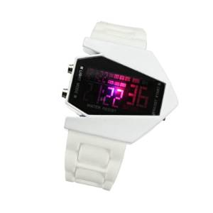 Giftoyou(TM) Fighter Aircraft Design sporting Digital Display LED Silicone Wrist Watch (White)