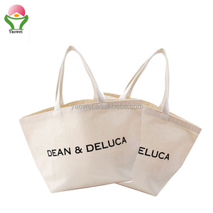 NEW Promotional Printed Sling Drawstring Shopping Tote Custom recycle Cotton Canvas Bag