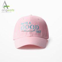 Custom adjustable letters logo embroidery cotton personalized baseball hats and pink sports caps