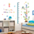 Learning English DIY kids room decorative wall sticker English alphabet kids height gowth chart