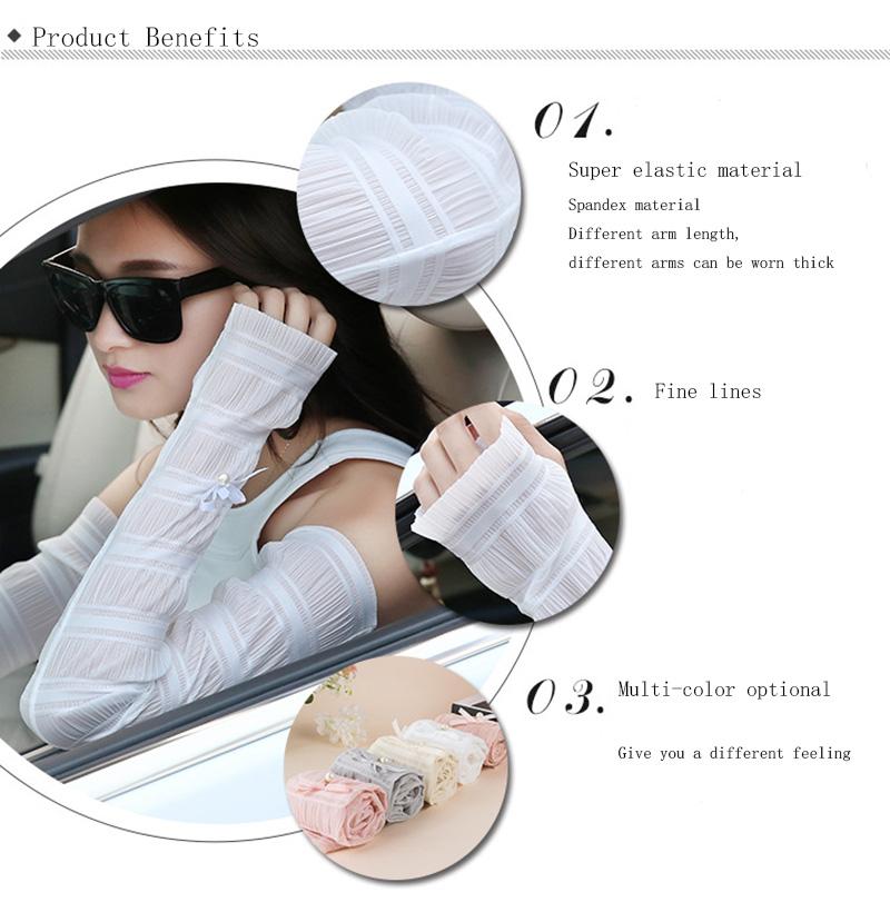 Hot Sale Summer Trendy Ice Silk Cool Gloves Fingerless Half Finger Sleeve Uv Sun Protection Eldiven Travel Companion Arm Warmers G104 Women's Gloves