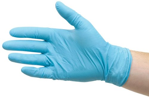 Liberty 9363SP Nitrile Heavyweight Palm Coated Glove with Knit Wrist and Jersey Lined Chemical Resistant Blue Pack of 12 Liberty Glove /& Safety 9363SP//M Medium