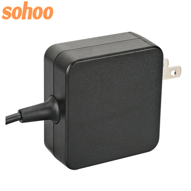 Mini Wall-mount Type-C Charger Smart IC Laptop Adapter 5V3A 9V3A 12V3A 14.5V3A 15V3A 20V2.25A
