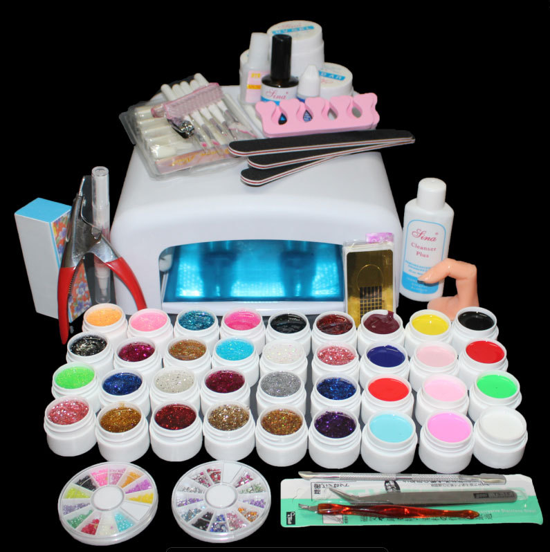 New-Pro-36W-UV-GEL-White-Lamp-36-Color-UV-Gel-Nail-Art