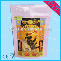 dog food stand up plastic packaging bag with zipper
