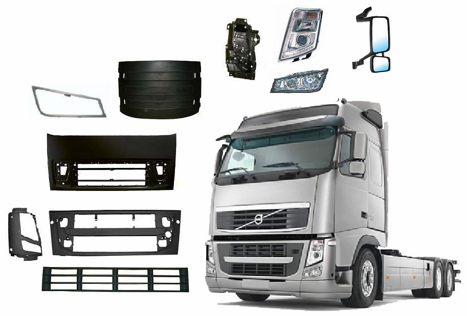 Made in Taiwan Truck Bumper, Lamp, Mudguard, High Quality Volvo Truck Spare Parts