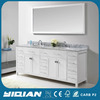 "36"" 48"" 72"" 78"" Single Bathroom Vanity Cabinet in White Freestanding Traditional Marble Countertop Solid Wood Bathroom Furniture"