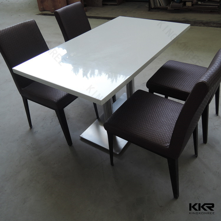 Engineered Quartz Marble Top / Marble Stone Composite Dining Table ...