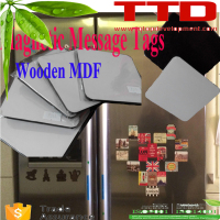 refrigerator magnet , Big Square sublimation fridge magnets ,Wooden MDF