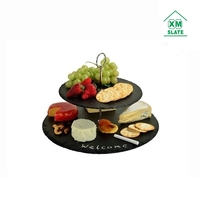 Best price personalised slate wedding gifts cake stand hanging crystals cake stand