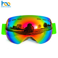 Good Quality Anti-Fog Big Glasses Custom Snowmobile Ski Snowboard Goggles