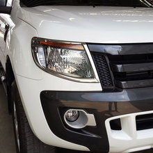 ABS Chromium Styling Chrome Head Light Cover Sticker For Ford Ranger 2012 Hit Car Accessories Exterior Lamp Decoration Products