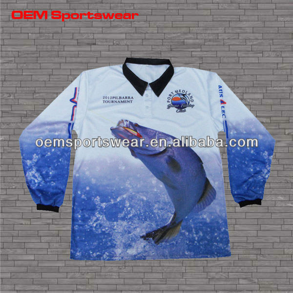 Good selling custom long sleeve uv protective fishing clothing