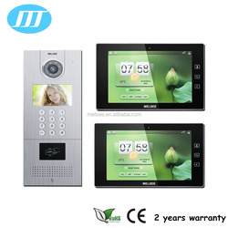 10 inch TCP/IP multi apartments building video intercom system