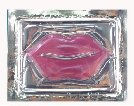 Hot koop Milieu collageen crystal lip vorm hydraterende goud lip masker