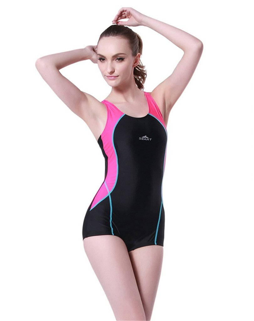 Fortuning's JDS® Fashionable glamoroussplicing color backless one piece swimwear for ladies & girls