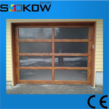 Wood Imitation Color Aluminum Garage Doors/classic Aluminum Glass Garage  Door/modern Garage Door