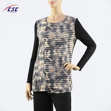Top quality ladies Comfortable Sublimation Printed long sleeve t shirt