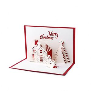Merry Christmas tree gift card 3D pop up card custom greeting cards Christmas gifts souvenirs postcards