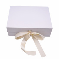 Wholesale custom printing luxury wedding favors gift flip box dresses packaging magnetic foldable box with ribbon