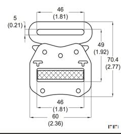 Manufacturers High quality 46mm black Adjustable Tactical metal Belt Buckle