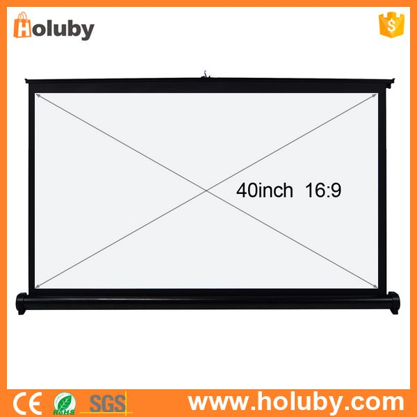 Portable 40 Inch 16:9 Home Cinema Projector Screen Use For home theatre,Office and Training