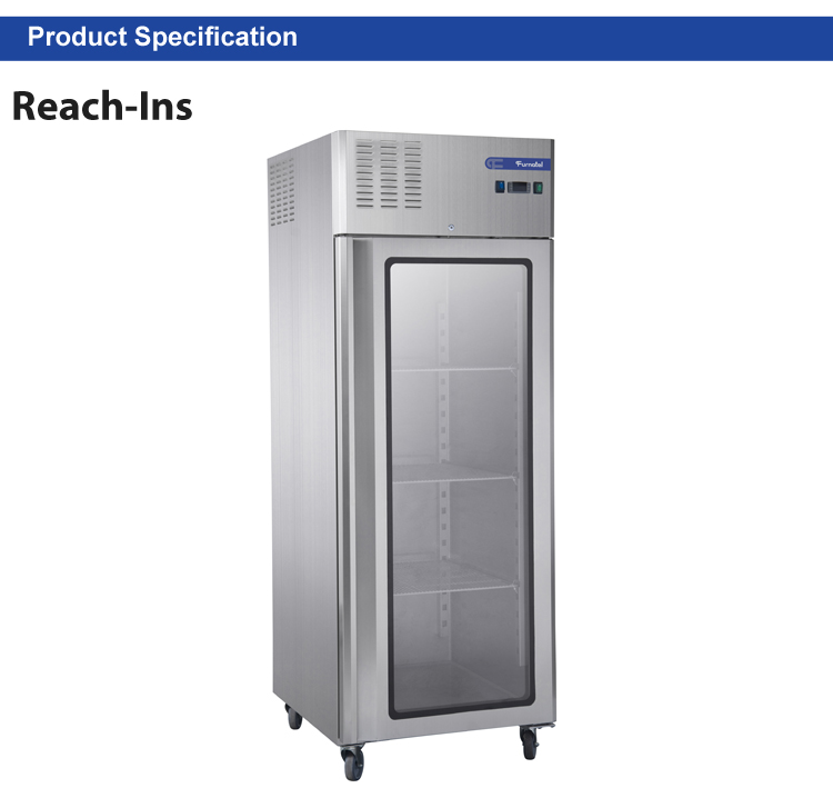 Professional Kitchen Appliance Used Commercial Refrigerators for Sale Glass Door Meat Display